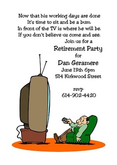 Funny retirement invitation – Party Invitation Funny