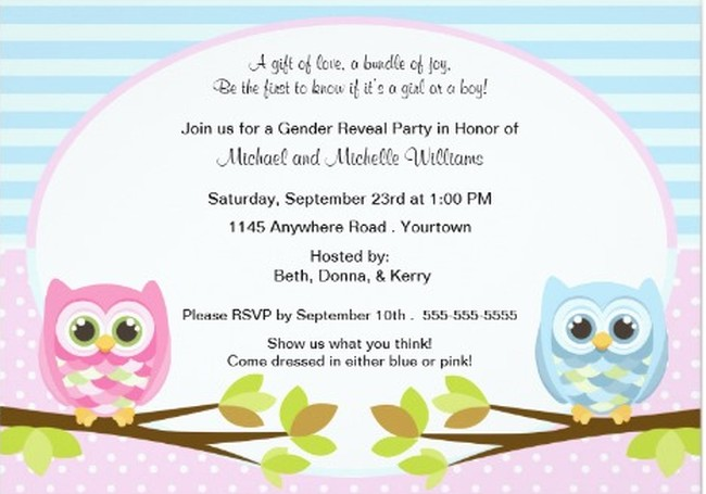 Gender Reveal Invitation Sample 3 Invitations Online