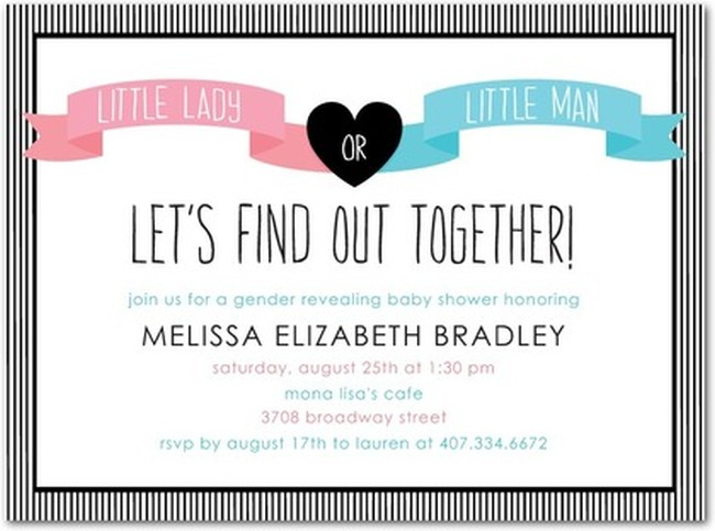 Gender Reveal Invitation Sample Invitations Online