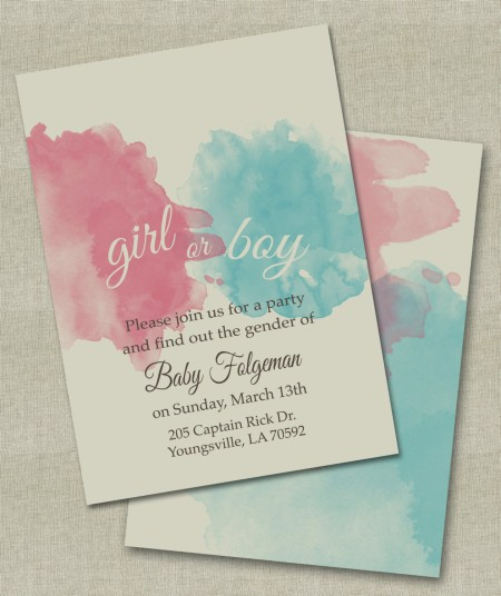 Gender Reveal Party Invitation 4 | Invitations Online