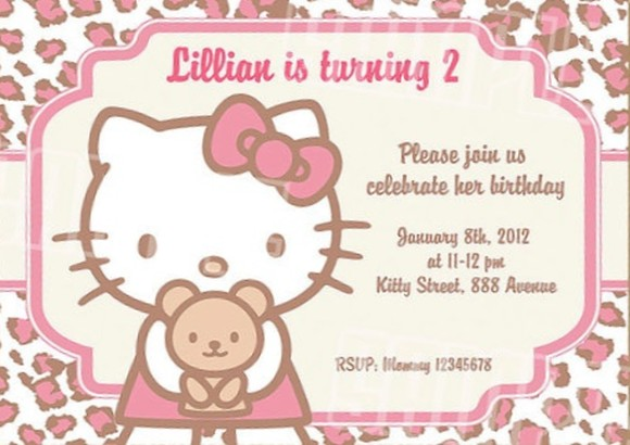 Hello Kitty Birthday Invitation Invitations Online