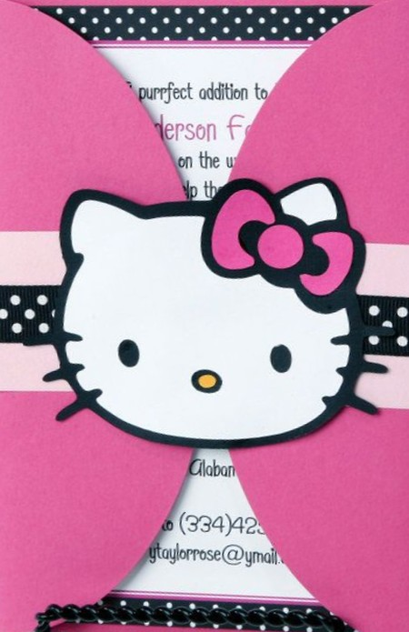 Hello Kitty Invitation Envelope | Invitations Online