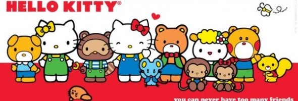 Hello Kitty Party Invitation 590x200