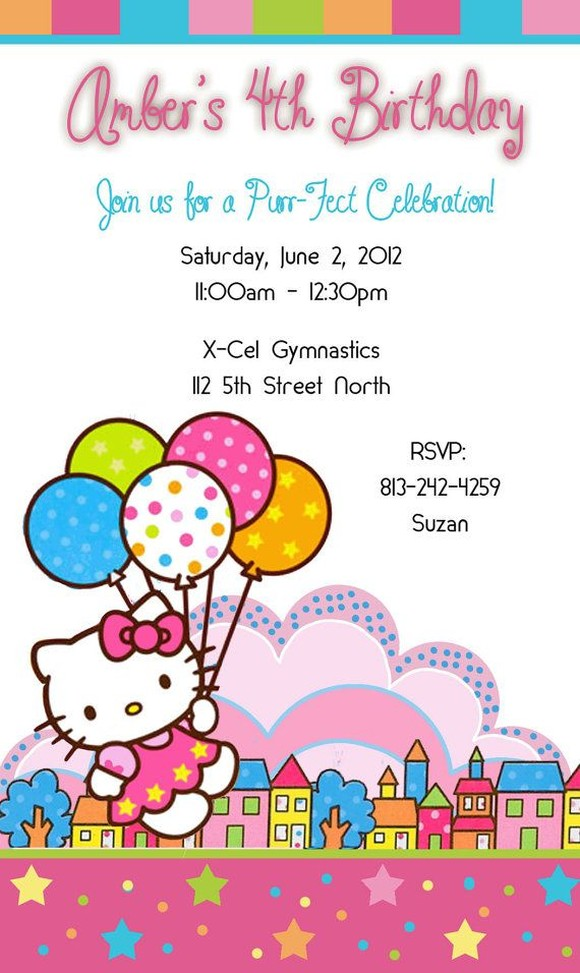 Hello kitty party invitation sample invitations online hello kitty party invitation sample spiritdancerdesigns Images
