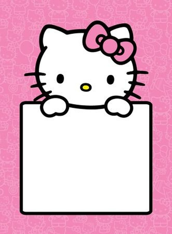 Hello Kitty empty invitation template | Invitations Online