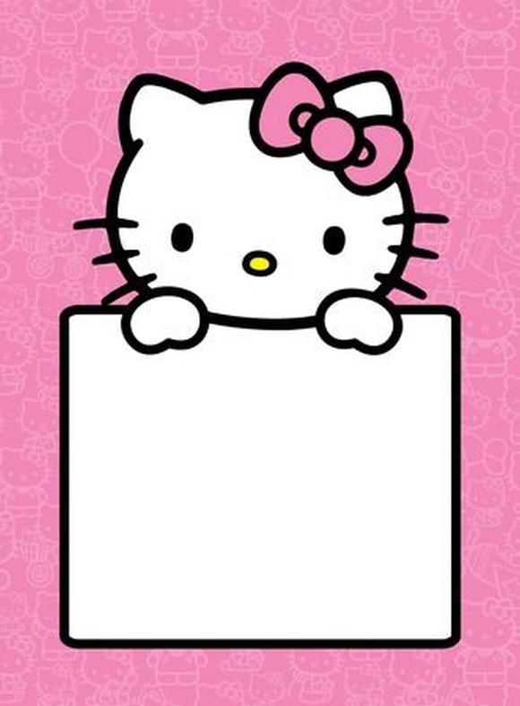 Hello Kitty Empty Invitation Template