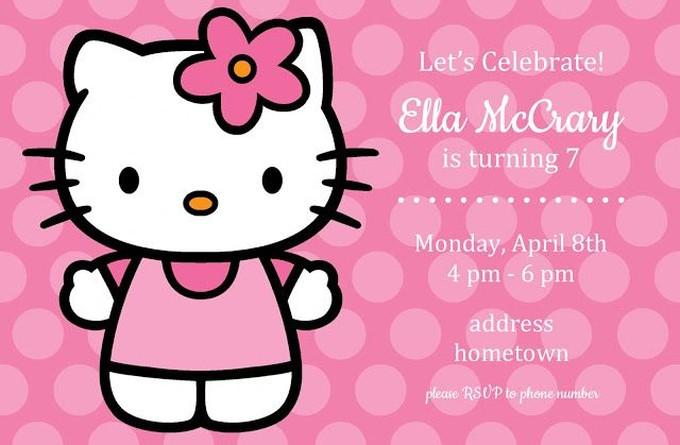 Kitty Invitation Sample Invitations Online - Sample birthday invitation hello kitty
