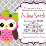 Owl baby shower invitation on Etsy 150x150