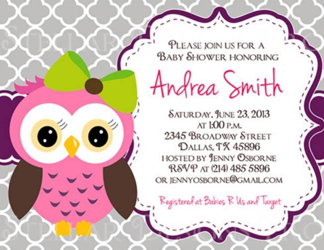 Owl baby shower invitation on Etsy | Invitations Online