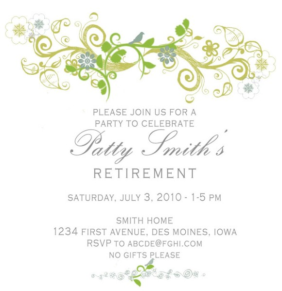 Patty Retirement Invitation Sample  Invitations Online