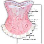 Pink Corset Lingerie Shower Invitations 150x150
