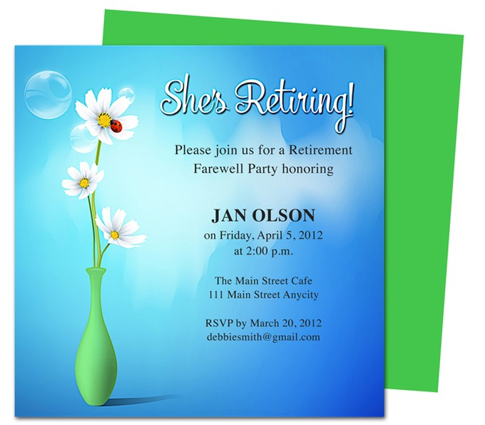 Tips on how to create appealing retirement party invitations for Retirement announcement flyer template