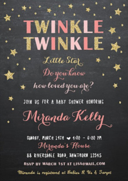 Twinkle Twinkle Baby Shower Invitation on Etsy