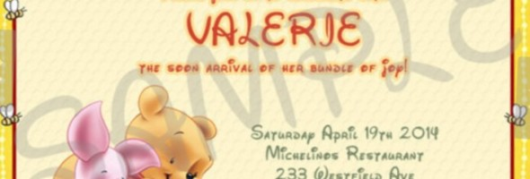 Winnie the Pooh Baby Shower Invitation Etsy Sample 590x200
