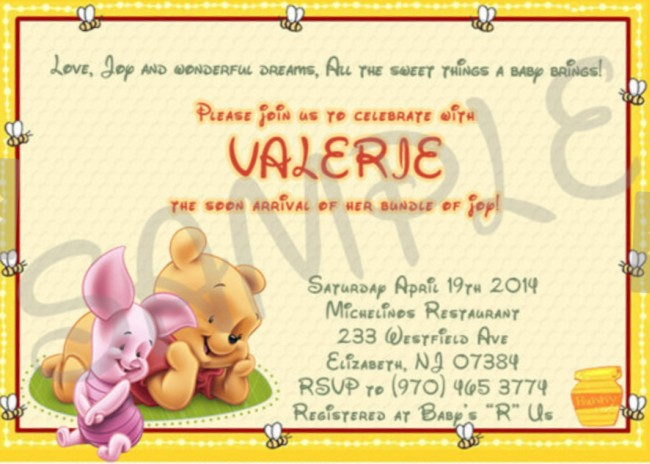 winnie the pooh baby shower invitation – etsy sample | invitations, Wedding invitations