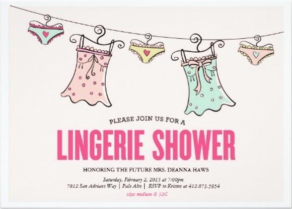 lingerie shower party invitation sample Invitations Online