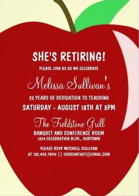 retirement celebration invitation