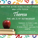 teacher retirement party invitation 150x150