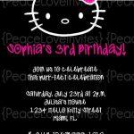 Black Hello Kitty invitation sample 150x150