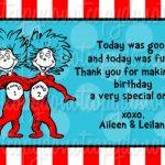 Dr Seuss Birthday Invitation card 150x150