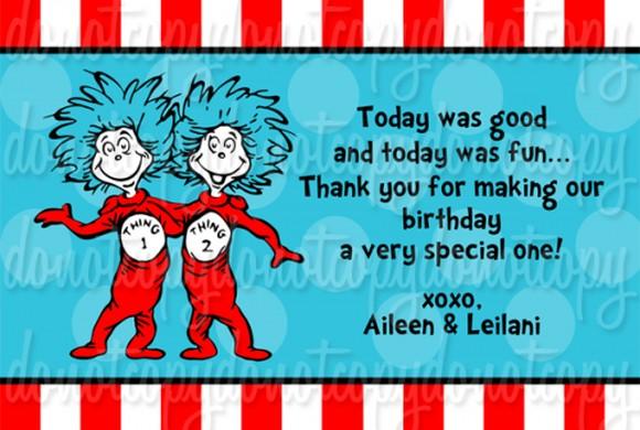 Dr Seuss Birthday Invitation card