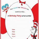 Dr Seuss Birthday Invitation free template 150x150