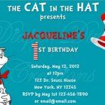 Dr Seuss Birthday Invitation sample 150x150