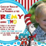 Dr Seuss Personalized Birthday Invitation 150x150