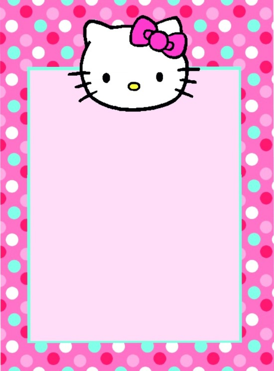 Free Hello Kitty Invitation template Invitations Online