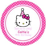 Hello Kitty birthday party invitation card 150x150