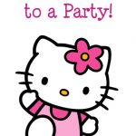 Hello Kitty invitation card sample 150x150