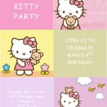Hello Kitty invitation card sample 2 150x150