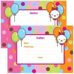 Hello Kitty invitation card template 150x150