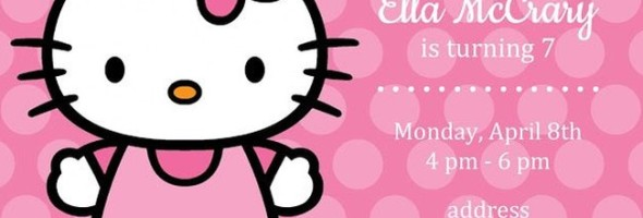 Hello Kitty invitation sample 590x200