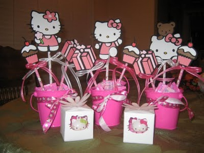 Hello Kitty party gifts and decorations