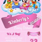 Minnie Mouse baby shower invitation sample 150x150
