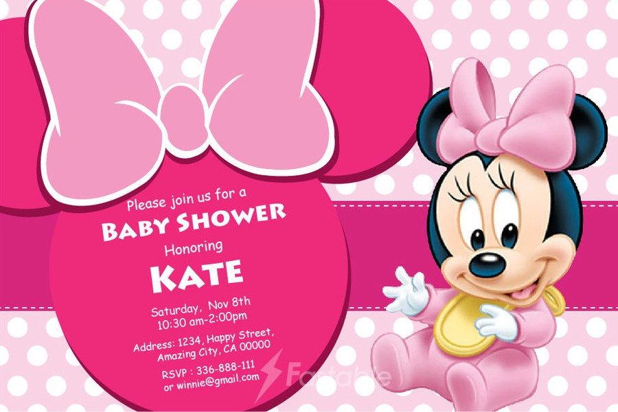 fotos online baby shower invitations minnie mickey mouse