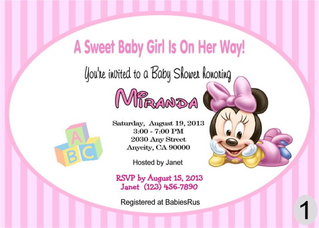 Minnie shower invite