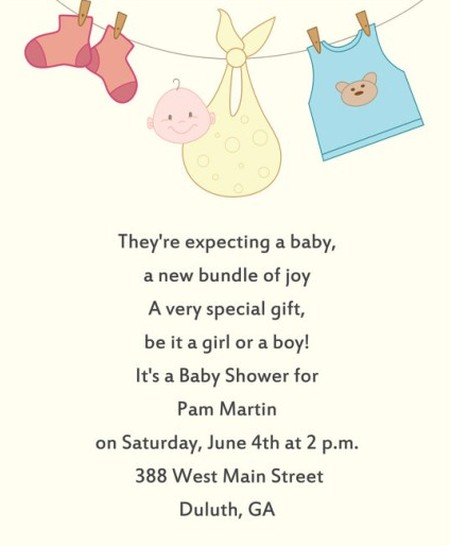 baby shower invitation sample invitations online