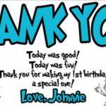 dr seuss thank you birthday party invitation 150x150