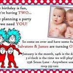dr seuss twins birthday invitation sample 150x150
