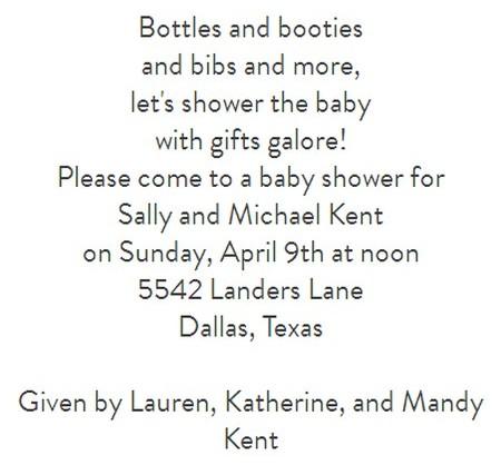 shower invitation wording 1