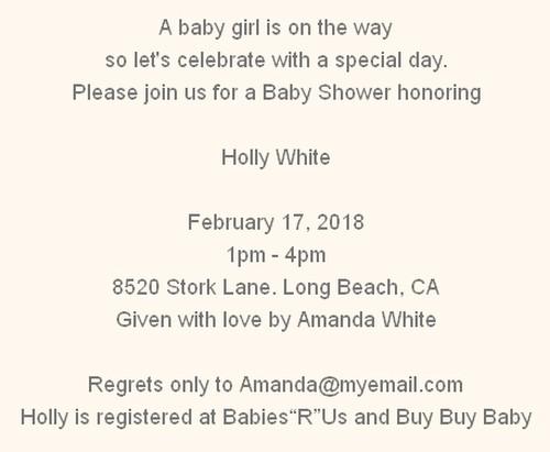 shower invitation wording sample 3