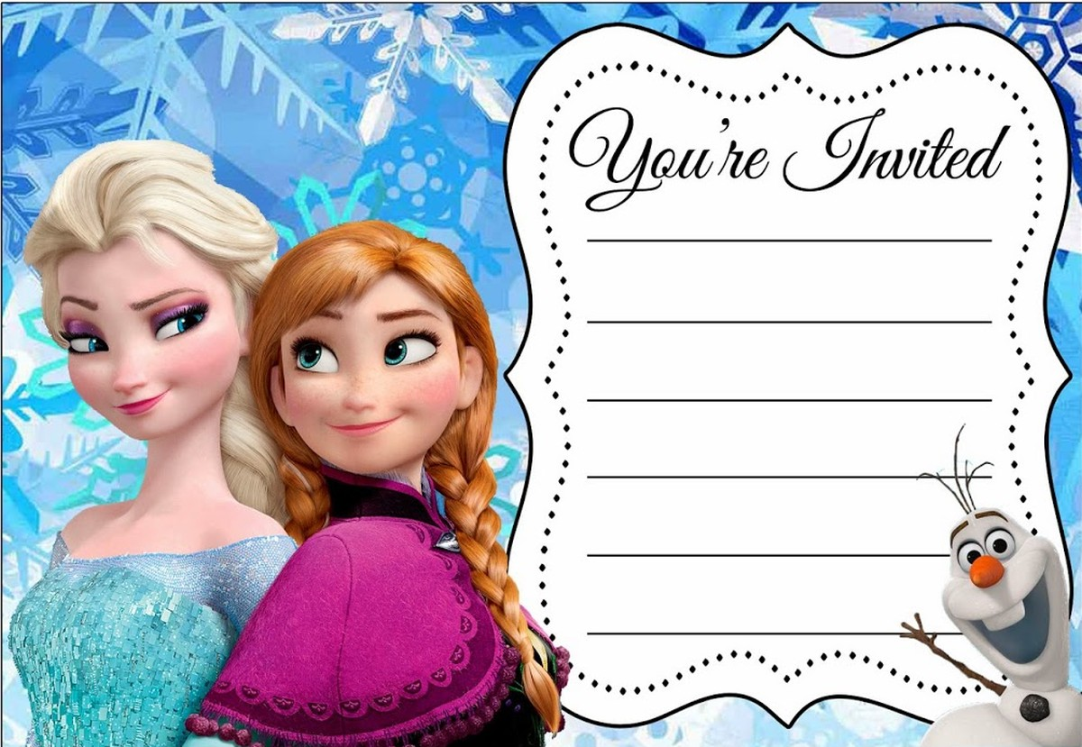 It is a picture of Mesmerizing Frozen Invites Printable