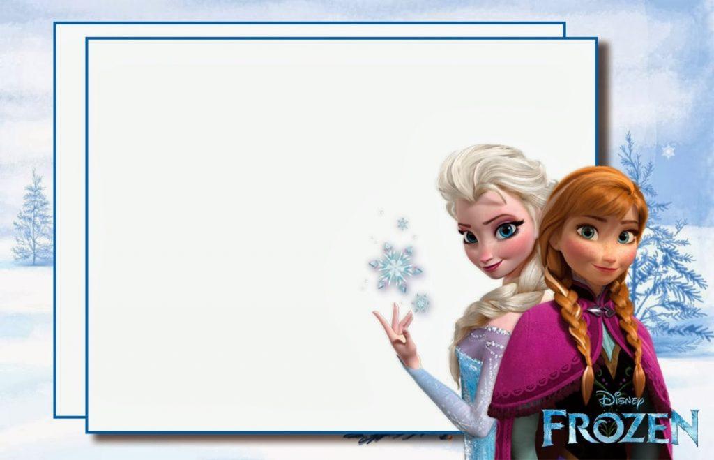 online free frozen invitations