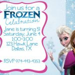 Frozen Birthday Invitation Sample 150x150