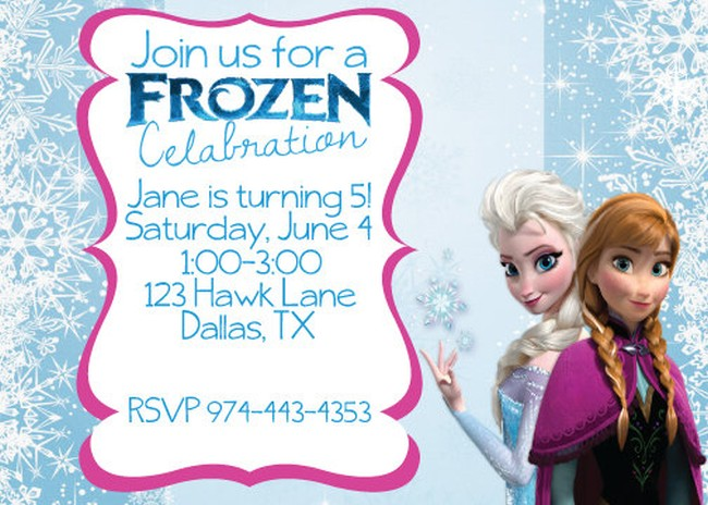 Frozen Birthday Invitation Sample | Invitations Online