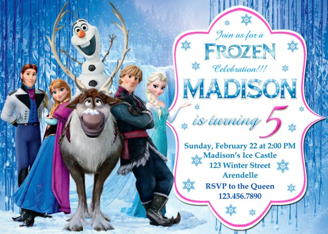 Frozen Birthday Party Invitation Example