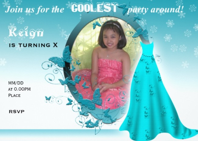 Frozen Birthday Party Invitation Sample | Invitations Online