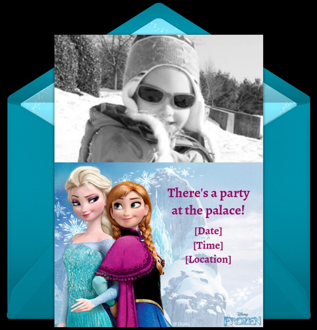 Frozen Birthday Party Personalized Invitation Sample
